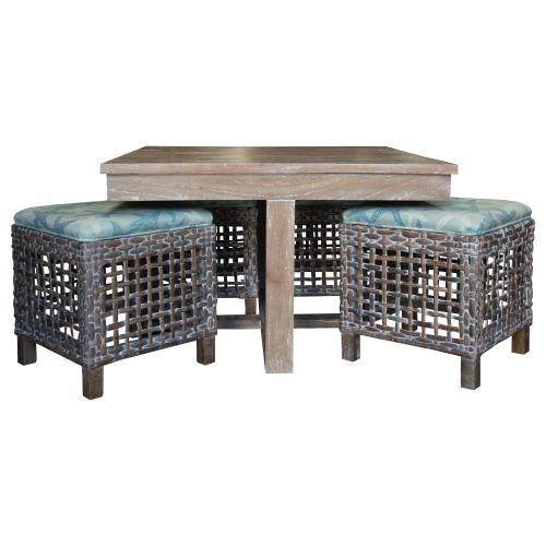 Hassock Table, Available in Vintage Smoke Finish Only.