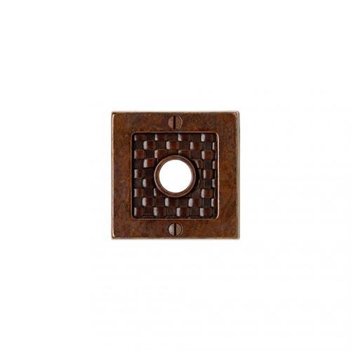 "Rocky Mountain Hardware - Designer 3"" Square Bronze Dark Lustre with Branch"