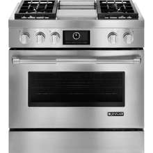 "Pro-Style® 36"" Dual-Fuel Range with Griddle and MultiMode® Convection, Pro-Style® Stainless Handle"