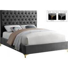 "Cruz Velvet Bed - 65"" W x 86.5"" D x 56"" H"
