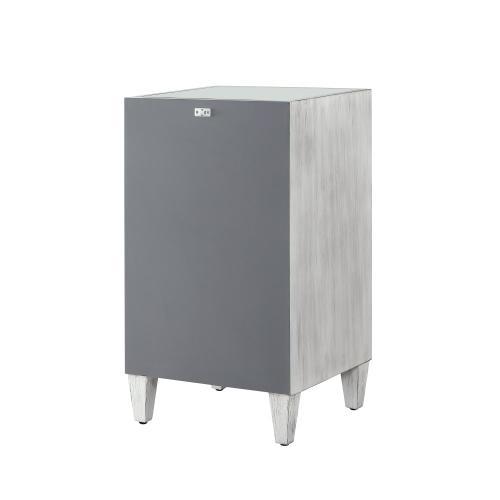 1-door and Adjustable Inner Shelf Cabinet, Silver