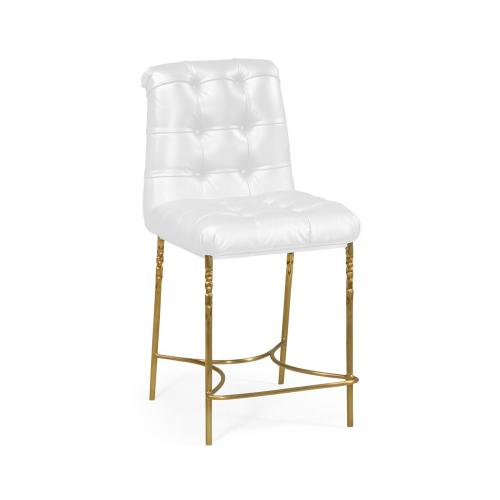 Counter Stool, Upholstered in COM