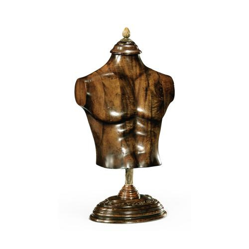 Large Male Wooden Mannequin & Torso on Stand