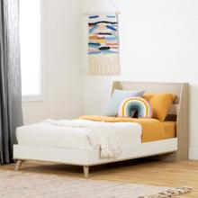 Yodi - Complete Bed, Soft Elm and White, Twin