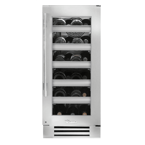 True Residential - 15 Inch Single Zone Stainless Glass Door Right Hinge Undercounter Wine Cabinet