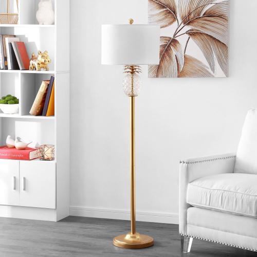 Elza Floor Lamp - Gold Leaf / Clear