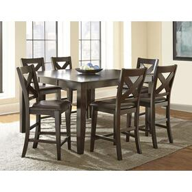 Crosspointe 7 Piece Counter Set(Counter Table & 6 Counter Chairs)