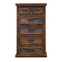 See Details - Chest W/Turquoise Copper Panels