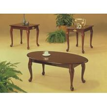 3PC CHERRY QUEEN ANNE COFFEE & END SET