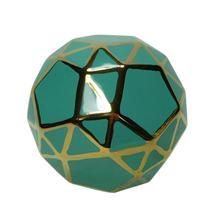 """Ceramic Orb 6"""" Turq/gold"""