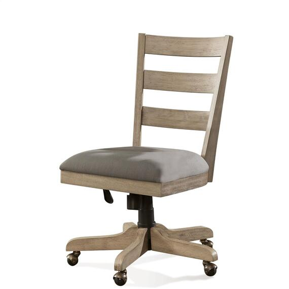 Riverside - Perspectives - Wood Back Upholstered Desk Chair - Sun-drenched Acacia Finish