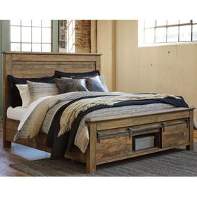 Sommerford King Panel Bed With Storage Brown