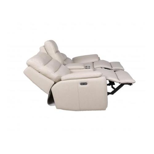 Duval Dual Power Console Loveseat, Ivory