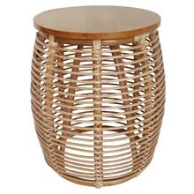Iris Rattan End Table, Honey