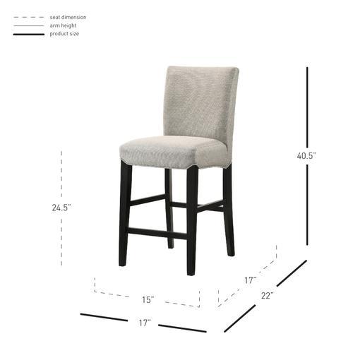 Product Image - Levi KD Fabric Counter Stool, Summit Gray