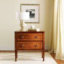 Two Drawer Fruitwood Commode
