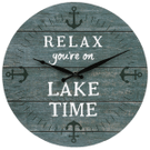 """""""Relax You're On Lake Time"""" Wall Clock Product Image"""