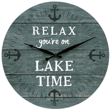 """Relax You're On Lake Time"" Wall Clock"