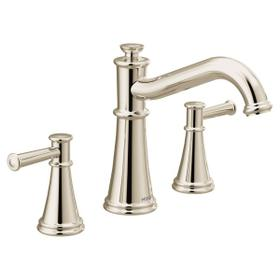 Belfield polished nickel two-handle roman tub faucet
