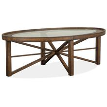 View Product - Oval Cocktail Table