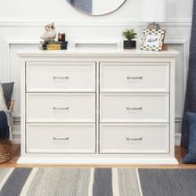 See Details - Warm White Foothill-Louis 6-Drawer Dresser