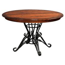 """See Details - 46"""" Iron Pedestal Table"""