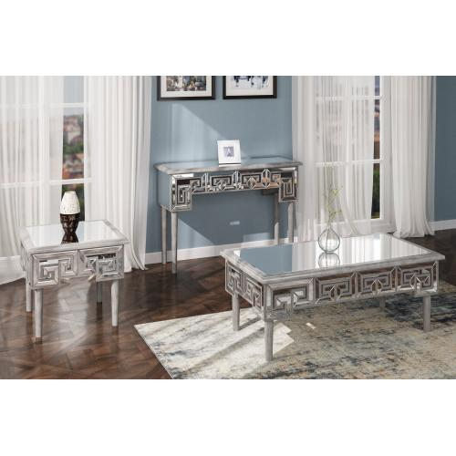 Emerald Home T425-02 Heritage Sofa Table, Mirror