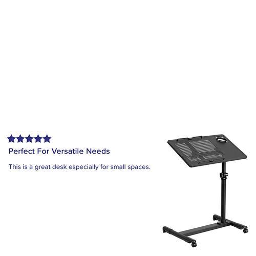 Flash Furniture - Black Adjustable Height Steel Mobile Computer Desk