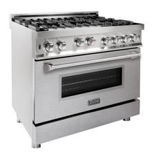 ZLINE 36 in. Professional Gas on Gas Range in Stainless Steel with DuraSnow® Stainless Steel Door (RG-SN-36)