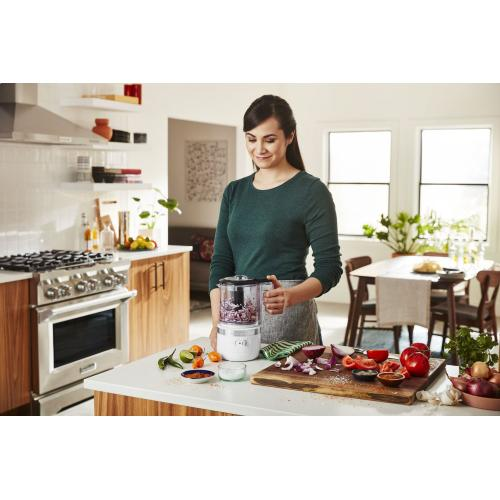 Cordless 5 Cup Food Chopper - White