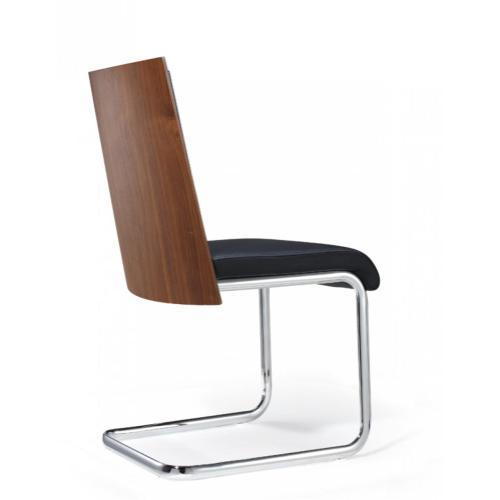 Morgan - Modern Black & Walnut Dining Chair (Set of 2)