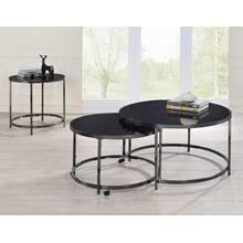 Rayne 3-Piece Set, Black(Nesting Cocktail & 2 End Tables)