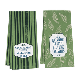 Forest Green Kitchen Towels (6 pc. ppk.)