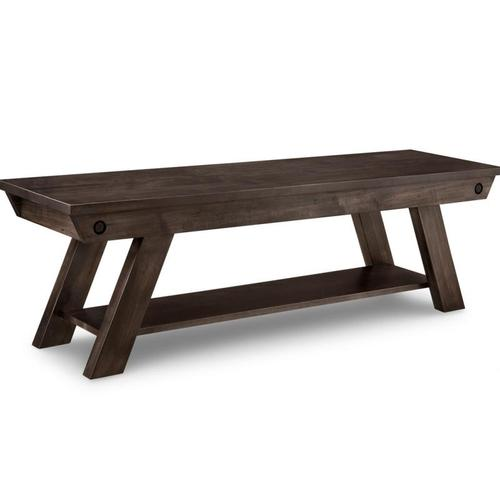 """Handstone - Algoma 60"""" Bench with Leather Seat"""