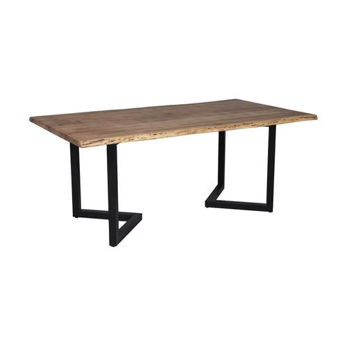 """Porter International Designs - Manzanita Natural 82"""" Dining Table with Different Bases, VCA-DT82N"""