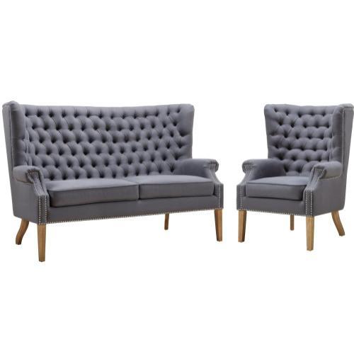 Abe Grey Linen Chair