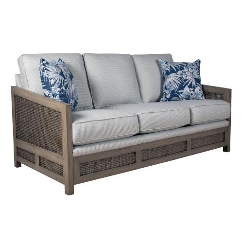 Product Image - 3 over 3 Convo-Lux seat cushions. Sofa arms available in Distressed White or Distressed Grey. Available with or without welted fabric.