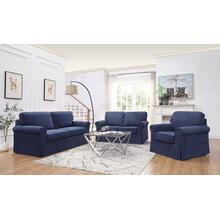 Ashton Slipcover Loveseat Cottage Style In Navy Fabric