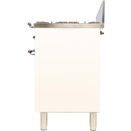 Ilve - Nostalgie 30 Inch Gas Liquid Propane Freestanding Range in Antique White with Chrome Trim