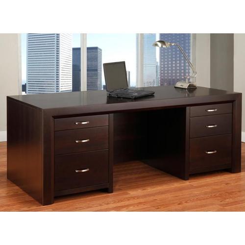 Handstone - Contempo Executive Desk w/Legal File Drawers