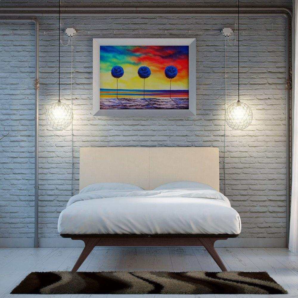 Tracy 2 Piece Queen Bedroom Set in Cappuccino Beige