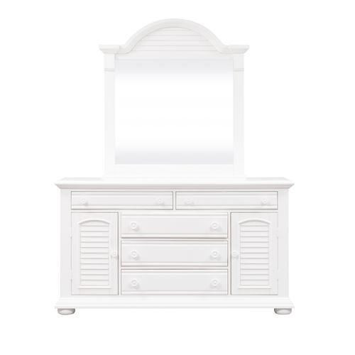 Liberty Furniture Industries - King Poster Bed, Dresser & Mirror, Night Stand