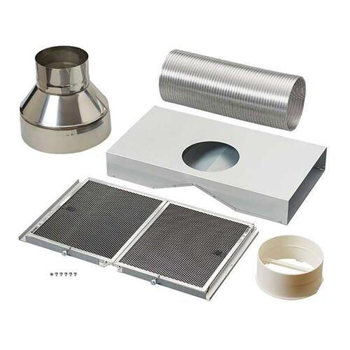 BEST Range Hoods - Non-duct kit for Gorgona WPB9 Chimney Range Hoods. Includes charcoal filters and diverter