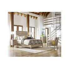 View Product - Incline Oak Queen Bed Low Footboard - Complete