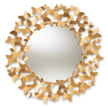 See Details - Baxton Studio Soleil Modern and Contemporary Antique Gold Finished Butterfly Accent Wall Mirror