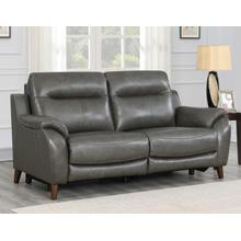 Trento Dual-Power Leather Reclining Sofa