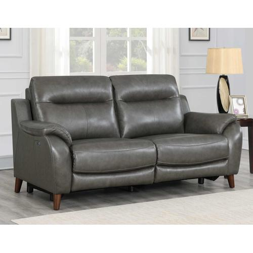Trento Dual-Power Leather Reclining Sofa