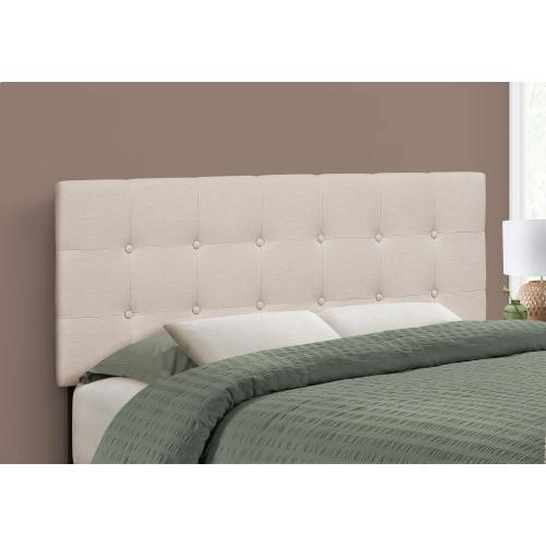 BED - FULL SIZE / BEIGE LINEN HEADBOARD ONLY
