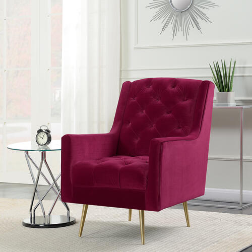 Bryan Accent Chair w/ Gold Legs