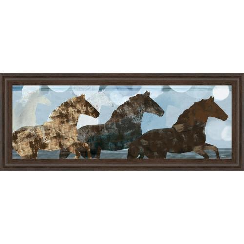 """Classy Art - """"Lively Spirit II"""" Horses By Dan Meneely Framed Print Wall Art"""